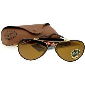 Ray Ban RB3422Q-9041 Men's Brown Frame Sunglasses
